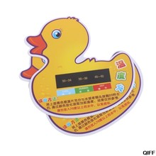 Drop Ship&Wholesale 2Pcs Baby Infant Bath Tub Water Temperature Tester Cartoon Duck Thermometer May06(China)