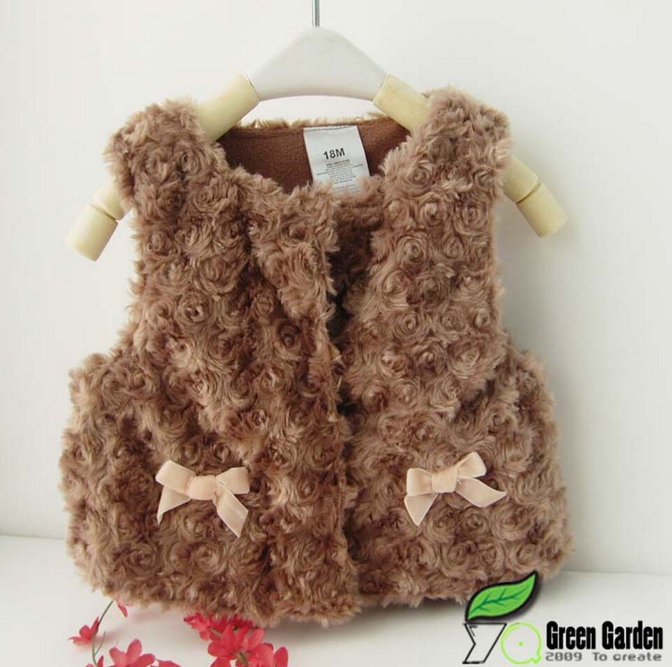new 2015,baby girl outerwear,newborn autumn winter warm clothing,baby girl clothing,new fashion fur waistcoat vest for baby girl