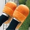 Juguetes Jumbo Blando Alimentos Pan Juguete Zapatillas Mujeres/Hombres Zapatos de Interior Para Adultos de Dibujos Animados en Zapatillas de Casa Piso para el Dormitorio