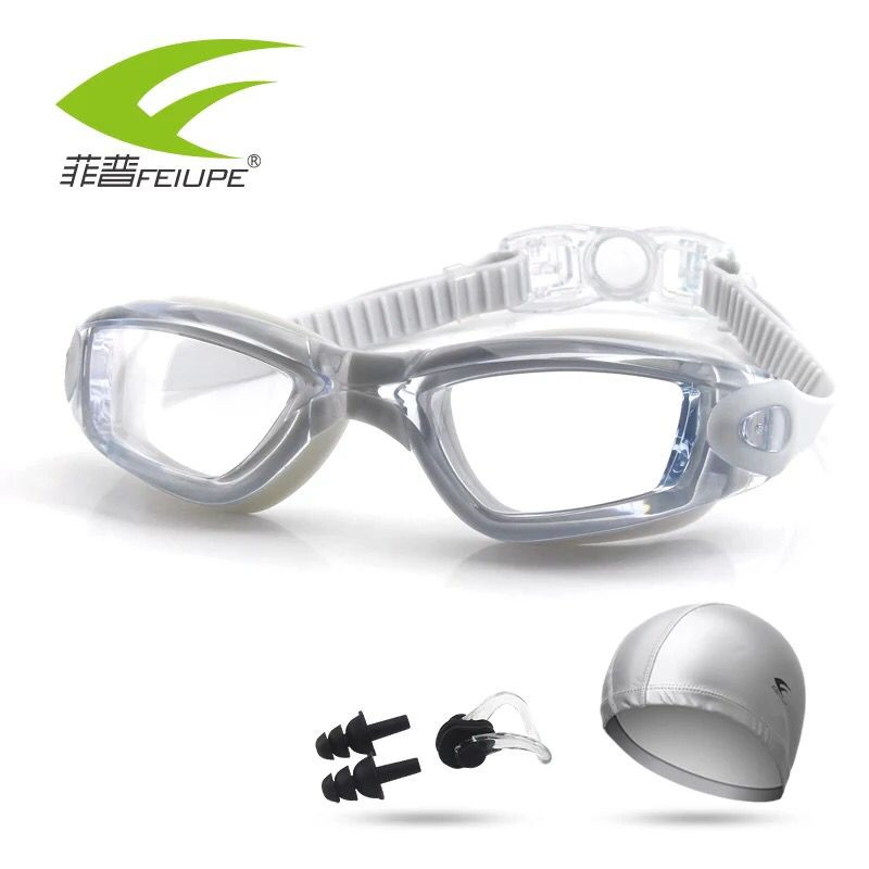 Myopia Swimming Goggles Anti-fog UV Swimming Glasses Clear Lens Optical for Men Women Diopter Sports Prescription Eyewear