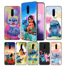 Cartoon Lilo Stitch Soft Black Silicone Case Cover for OnePlus 6 6T 7 Pro 5G Ultra-thin TPU Phone Back Protective