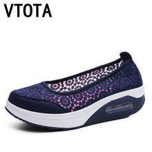 VTOTA Women Flats Shoes 2018 Comfortable Flat Air Mesh Summer Shoes Female Zapatos de Mujer Black Slip On Shoes For Women H40 2018 summer women sport shoes casual air mesh breathable shoes flat platform shoes for women slip on sneakers zapatos mujer