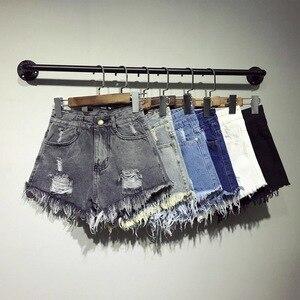 New Hot Sexy High Waist Bodycon Denim Ripped Hole Short Jeans Mini Club DJ Dance Shorts Plus Size S M L XL XXL 3XL 4XL 5XL 6XL