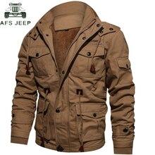 d03d37744e913 Envío de la gota gruesa caliente para hombre Parka chaqueta de lana de  invierno Multi-Bolsillo táctico ejército chaqueta hombres.