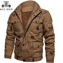 18616b95a Drop Shipping Thick Warm Mens Parka Jacket Winter Fleece Multi-pocket  Casual Tactical Army Jacket