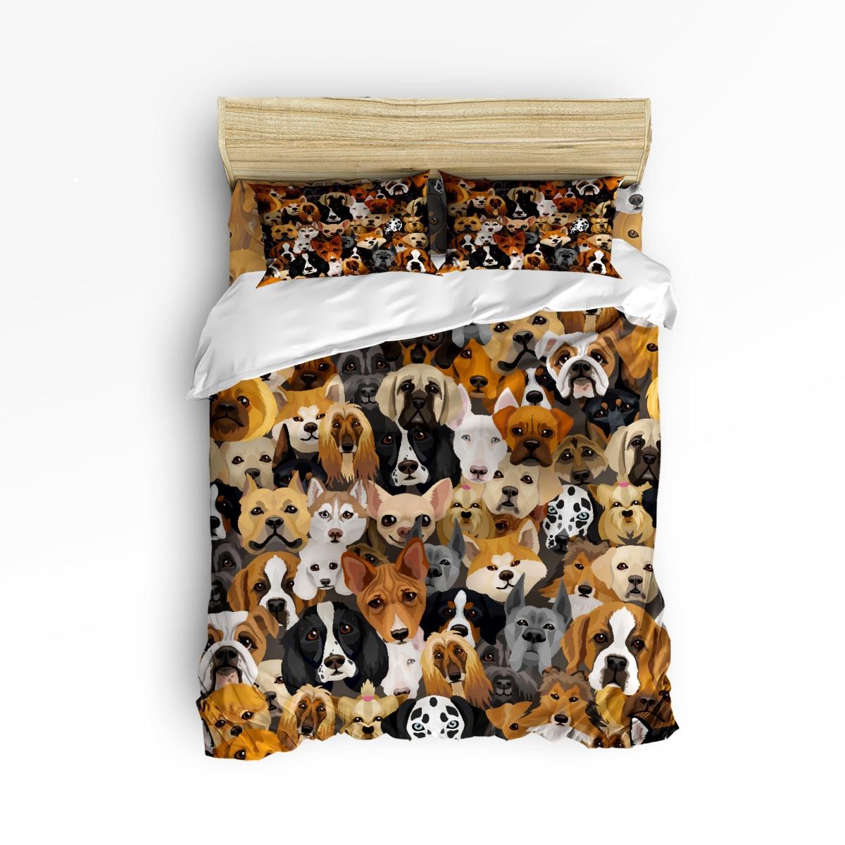 Arts 3d Cartoon Bulldog Hound 3 Pcs 4 Pcs Bedding Set Home Decor Duvet Dog Lover Comforter Bedding Sets Adult Kids Free ShippingArts 3d Cartoon Bulldog Hound 3 Pcs 4 Pcs Bedding Set Home Decor Duvet Dog Lover Comforter Bedding Sets Adult Kids Free Shipping