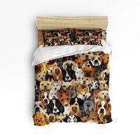 Arts 3d Cartoon Bulldog Hound 3 Pcs 4 Pcs Bedding Set Home Decor Duvet Dog Lover Comforter Bedding Sets Adult Kids Free Shipping