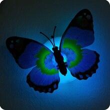 5pcs זוהר פרפר מנורת לילה אור מהבהב צבעוני קיר מנורת צ אק ומדבקות מקורה תאורה ספקי צד