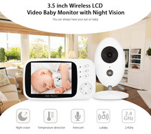 FIMEI XF808 3.5inch Wireless Video Baby Monitor Camera Night vision Baby Sleep Nanny Security Video Camera Monitor LCD Monitor(China)