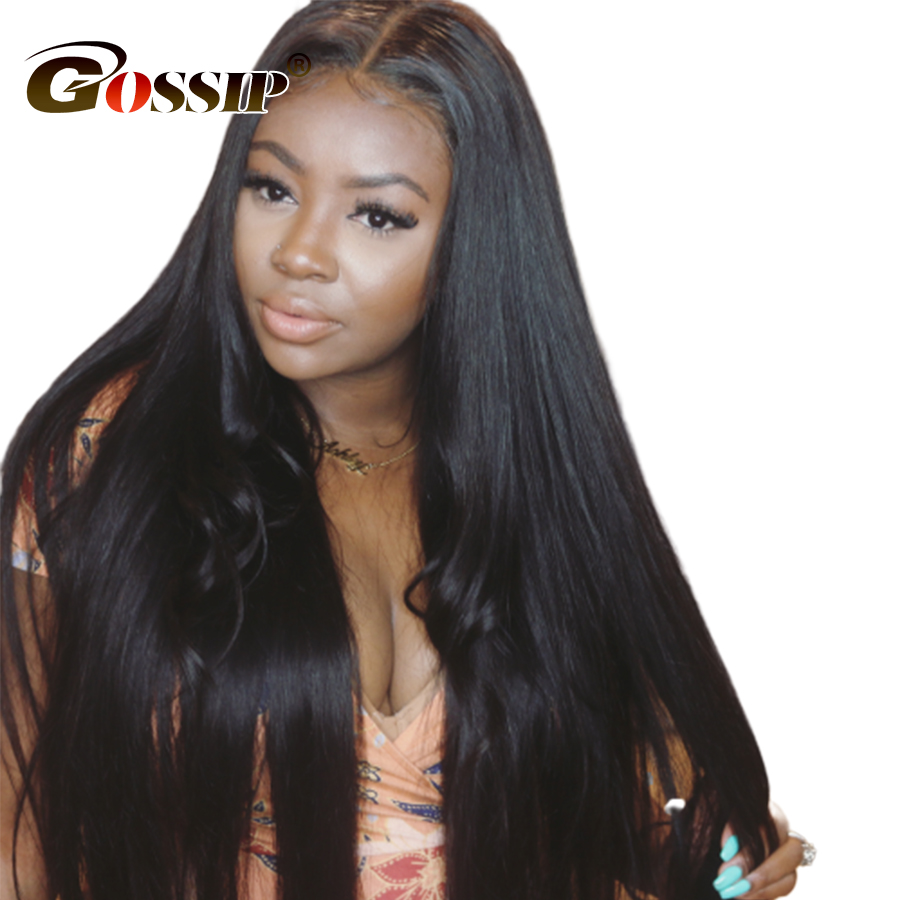 250 Density Lace Wig Human Hair Straight 13x4 Lace Front Wig Brazilian Wigs For Black Women