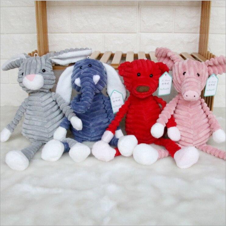 Новое поступление полосатый Лес животных плюшевые игрушки куклы милый подарок для девочек и мальчиков