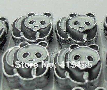 Оптовая продажа, 100 шт., подвески в виде панды 8 мм, подходят для телефонов «сделай сам»