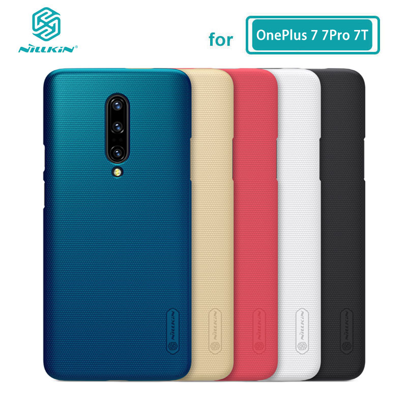 OnePlus 7 Pro Case Casing Nillkin Frosted Shield PC Hard Back Cover Case For OnePlus 7 Pro One Plus 7T Gift Phone Holder