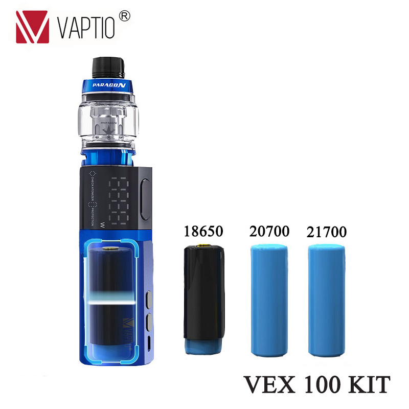 Gift 5pcs Mesh or Strip Coil Vaptio VEX 100 Vape KIT with 100W TC Box Electronic Cigarette Mod & 8.0ml Tank Mesh and Strip Coil