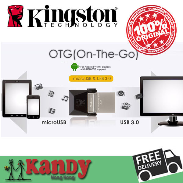 Kingston usb 3.0 microUSB otg flash drive pen drive 16gb 32gb 64gb Smartphone PC cle usb stick mini chiavetta gift wholesale lot