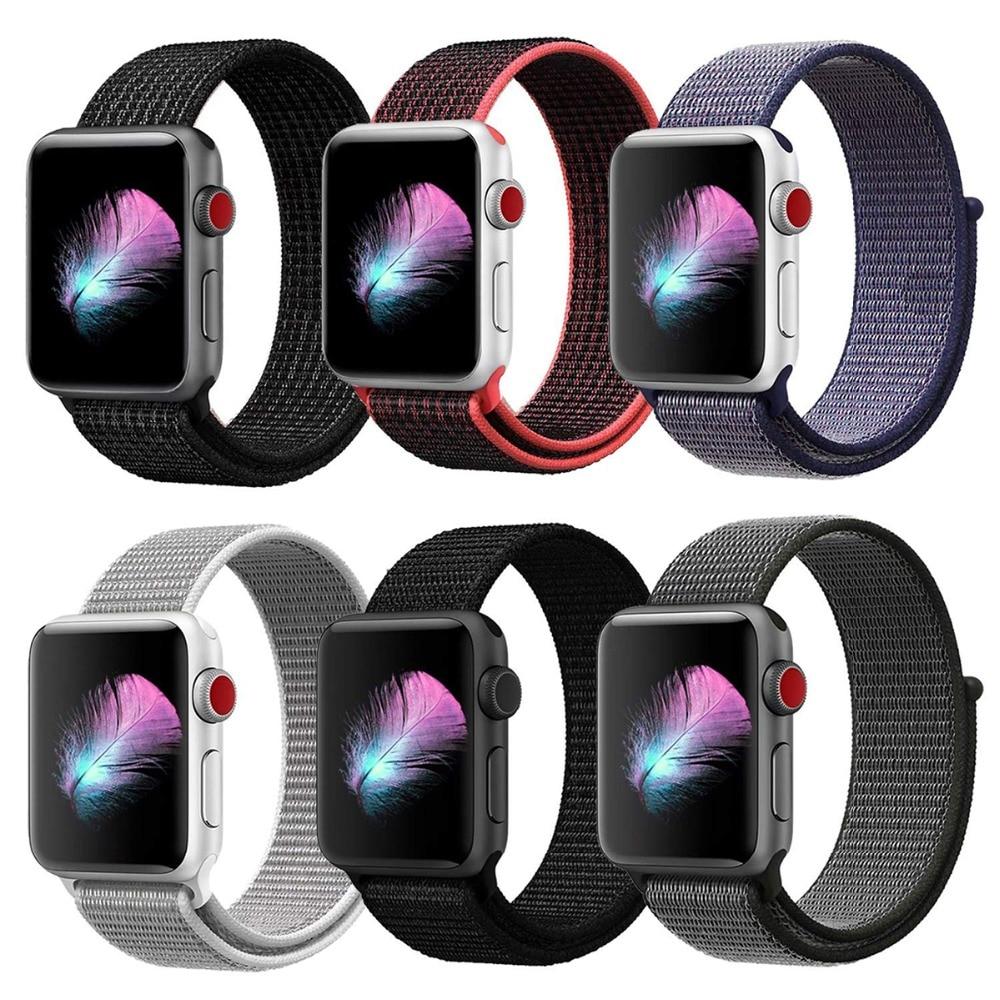 Woven Nylon Sport Strap For Apple Watch 40mm 44mm Breathable Replacement Band Bracelet Sport Loop Watchband For Series 1&2&3&4 колесникова е в тесты для детей 6 лет 2 е изд перераб