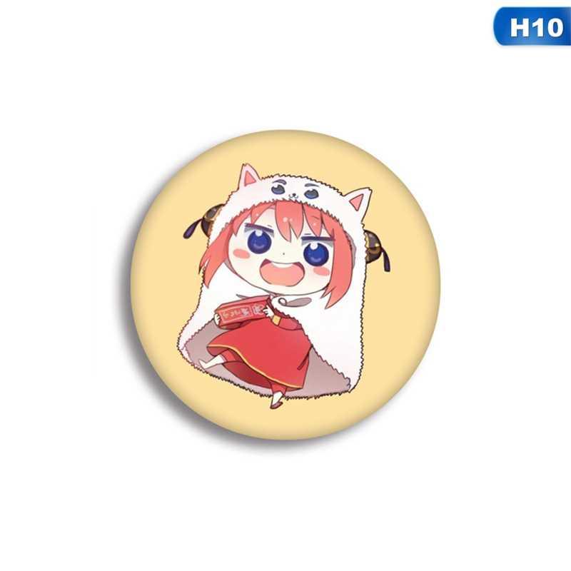 5.8 cm Bonito Dos Desenhos Animados Himouto Doma Umaru Broche Breastpin Irmã Japonesa Anime Pin Badge Moeda Ícone Mochila Pano Ornamento