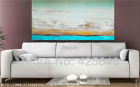 Clouds Seaside Acrylic Paint Home Decoration Oil Painting on canvas hight Quality Hand painted Wall Art 24X48 inch ,36X72 inch