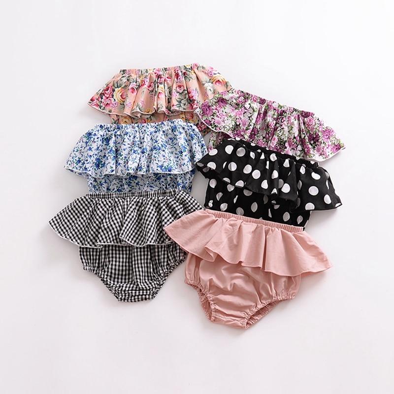 Летние модные шорты для маленьких девочек и мальчиков шаровары со складками для новорожденных, треугольные Трусы-шорты с рисунком для дево...
