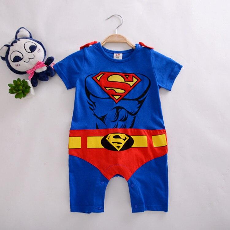 Kids Boys Girls Superman Batman Playsuit All In One Piece  Jumpsuit 7 13