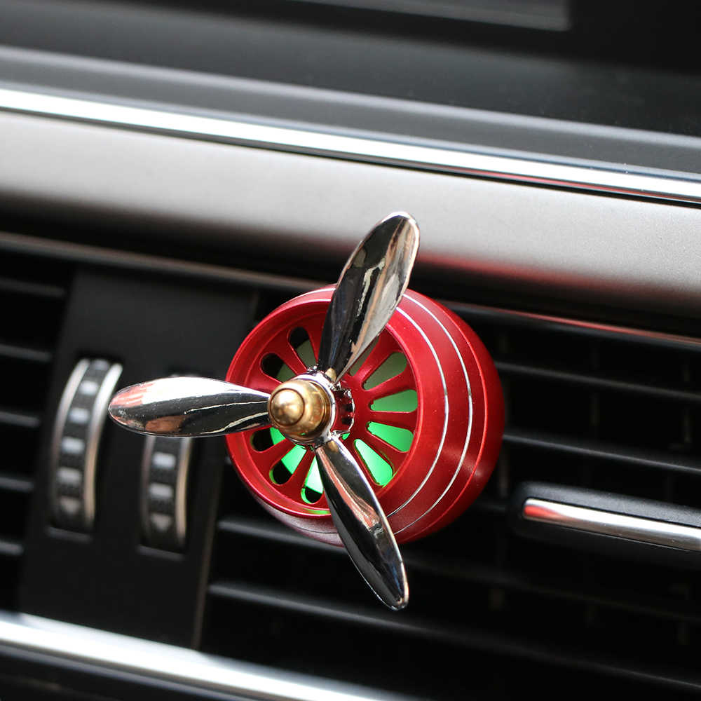 Air Freshener Car Air Perfume Smell LED Mini Conditioning Vent Outlet Perfume Clip Fresh Aromatherapy Fragrance Alloy Auto