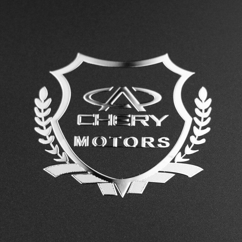 2pcs Excellent 3D Metal Car Sticker Emblem Badge Case For Chery Tiggo 5 2014-2015 Fulwin A1 A3 QQ Accessories Car Styling