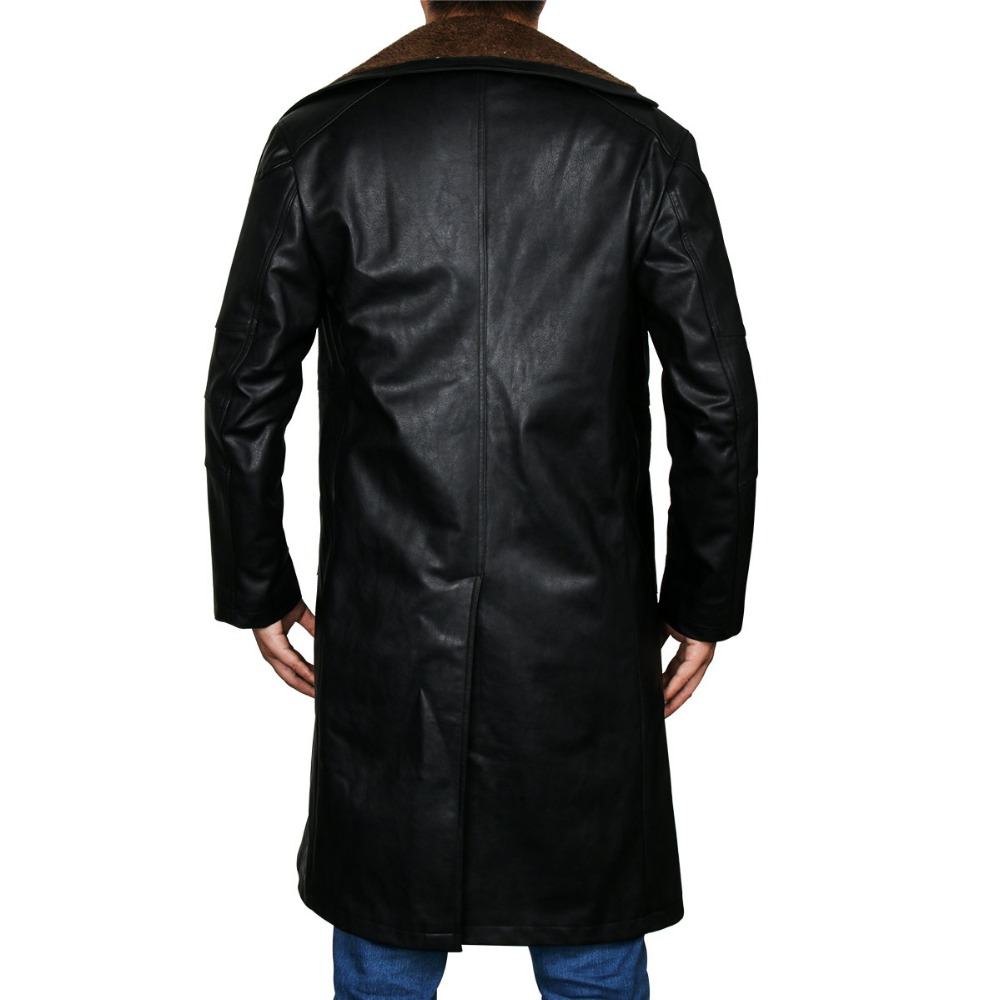 Image 5 - Blade Runner 2049 Officer K Trench Cosplay Costume 2017 Ryan Gosling Jacket Outwear Long PU Leather Coat Halloween Uniform New-in Movie & TV costumes from Novelty & Special Use