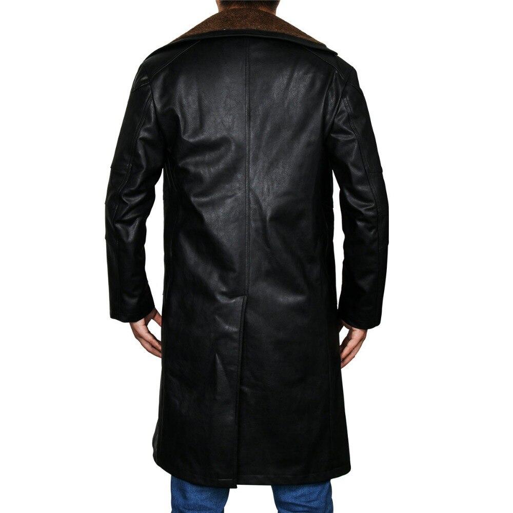 Blade Runner 2049 Offizier K Graben Cosplay Kostüm 2017 Ryan Gosling Jacke Outwear Lange PU Leder Mantel Halloween Uniform Neue - 5