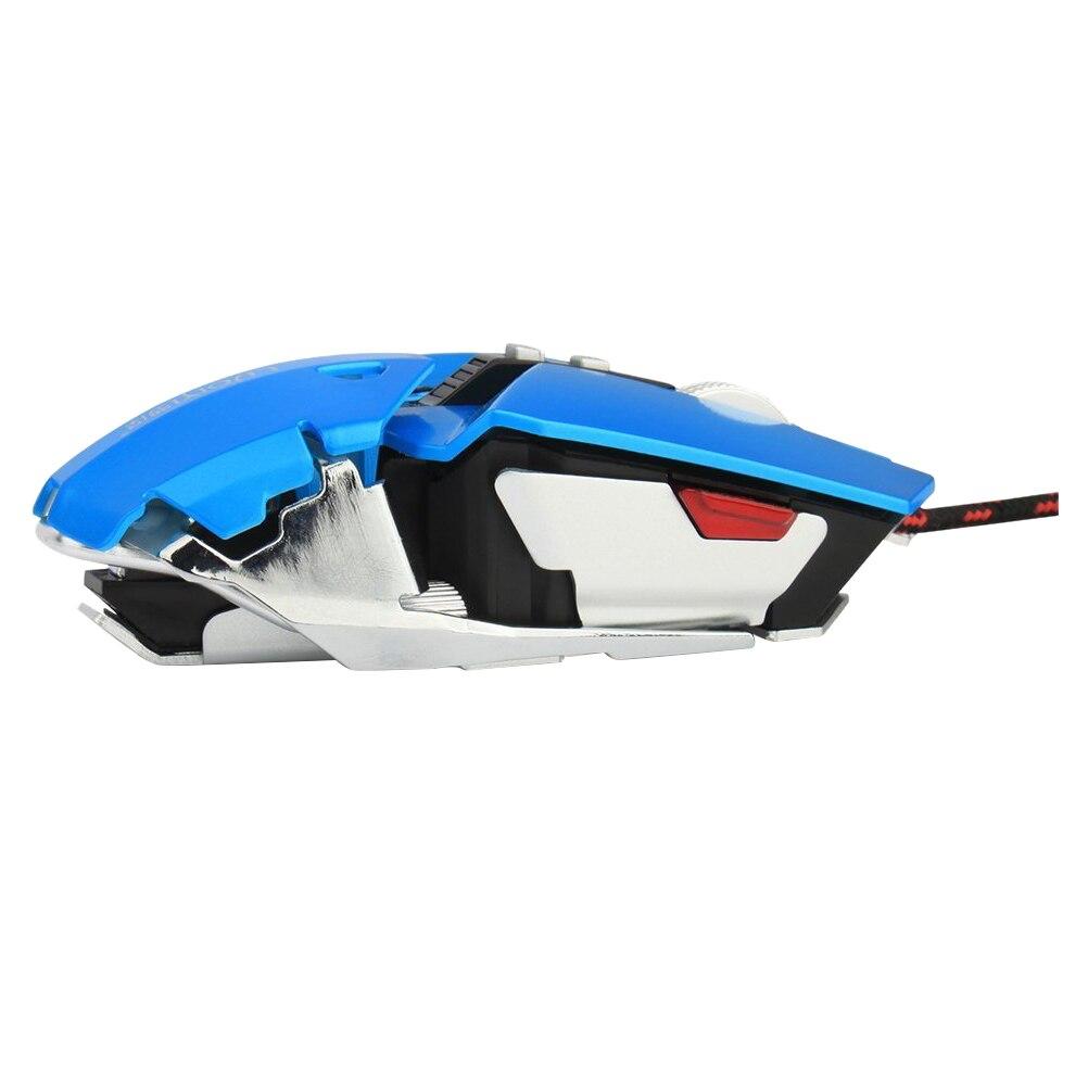 4000 Точек на дюйм 10 кнопок светодиодный оптическая USB проводной профессиональный игровой Мышь, механические игры мыши