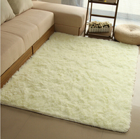 1200mmx2500mmx45mm NEW Design Anti Skid Carpet Living Dining Bedroom Flokati Shaggy Ivory Wool Rug