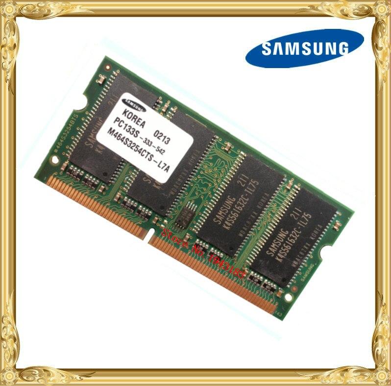 Samsung SDRAM 256MB PC133 Notebook Memory SD 133MHz Laptop 144pin 256 Printer Industrial Machinery RAM 5616
