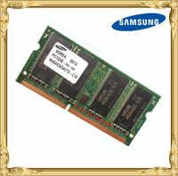 Samsung sdram 256 mb pc133 memória notebook sd 133 mhz portátil 144pin 256 impressora máquinas industriais ram 5616