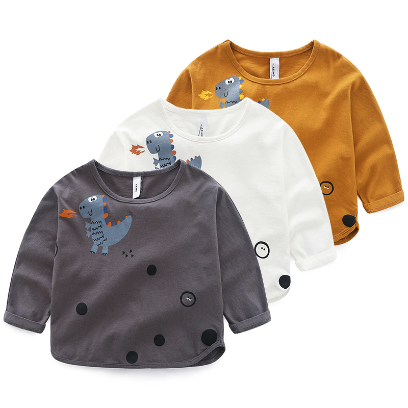 Kids Infantil Baby Boys Hoodies Dinosaur Printed Sweatshirt 2-8 Years Childrens Spring Pullover Outerwear Tops Coat