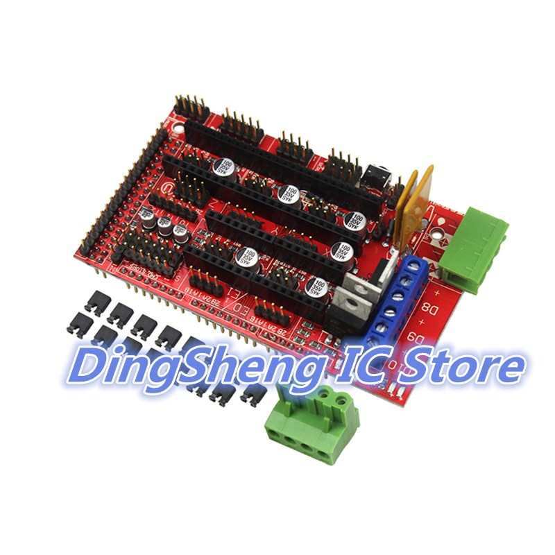 10pcs/lot Ramps 1.4 Control Board Panel Part Motherboard 3d Printers Parts Shield Red Black Controls Ramps1.4 Boards