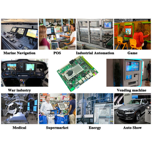 Image 5 - Tanie mini wsparcie płyty głównej Intel core i3 i5 i7 procesor wbudowana przemysłowa płyta główna z 4xSATA XP/Win7/Win10 płyta główna