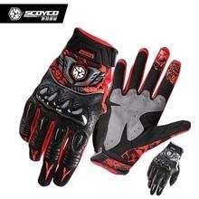 2016 new SCOYCO MX49 motorcycle gloves leather MOTO biker motorbike motocross Carbon protection glove motorcyclist mittens M XXL