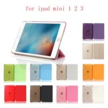 PC Leather Case for Apple iPad Mini 1 2 3 Fashion Smart Cover + translucent back Mini1 UIOPA
