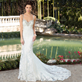 Spring New Arrival Mermaid Wedding Dresses 2016 Seay Glamorous Backless Court Train Shiny Beading Lace Wedding Gown Appliques