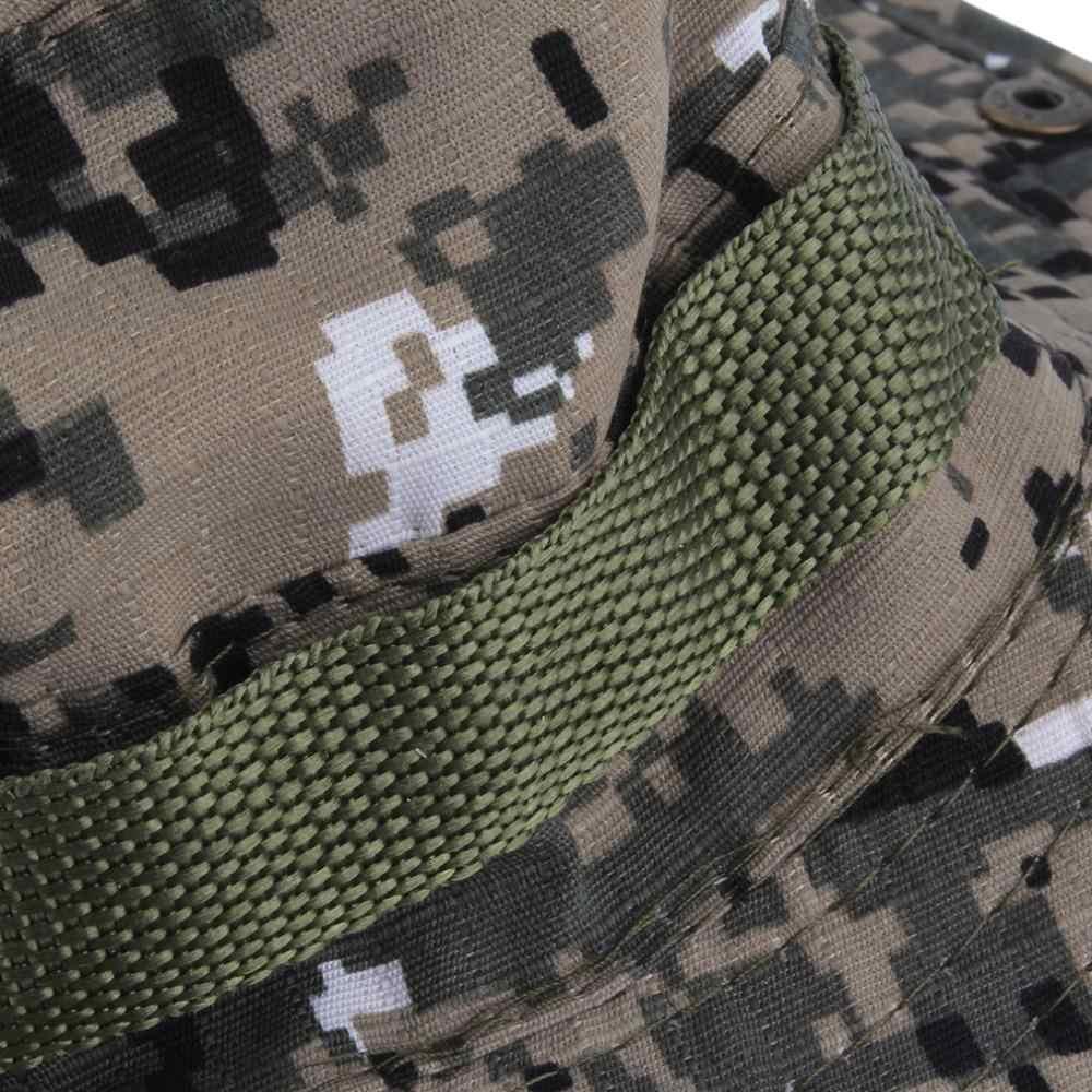Unisex sombrero con forma de cubo para mujer de los hombres Gorra Boonie sombrero de pesca amplia Gorra militar sol Casual sombrero militar protección al aire libre luz del sol 2020