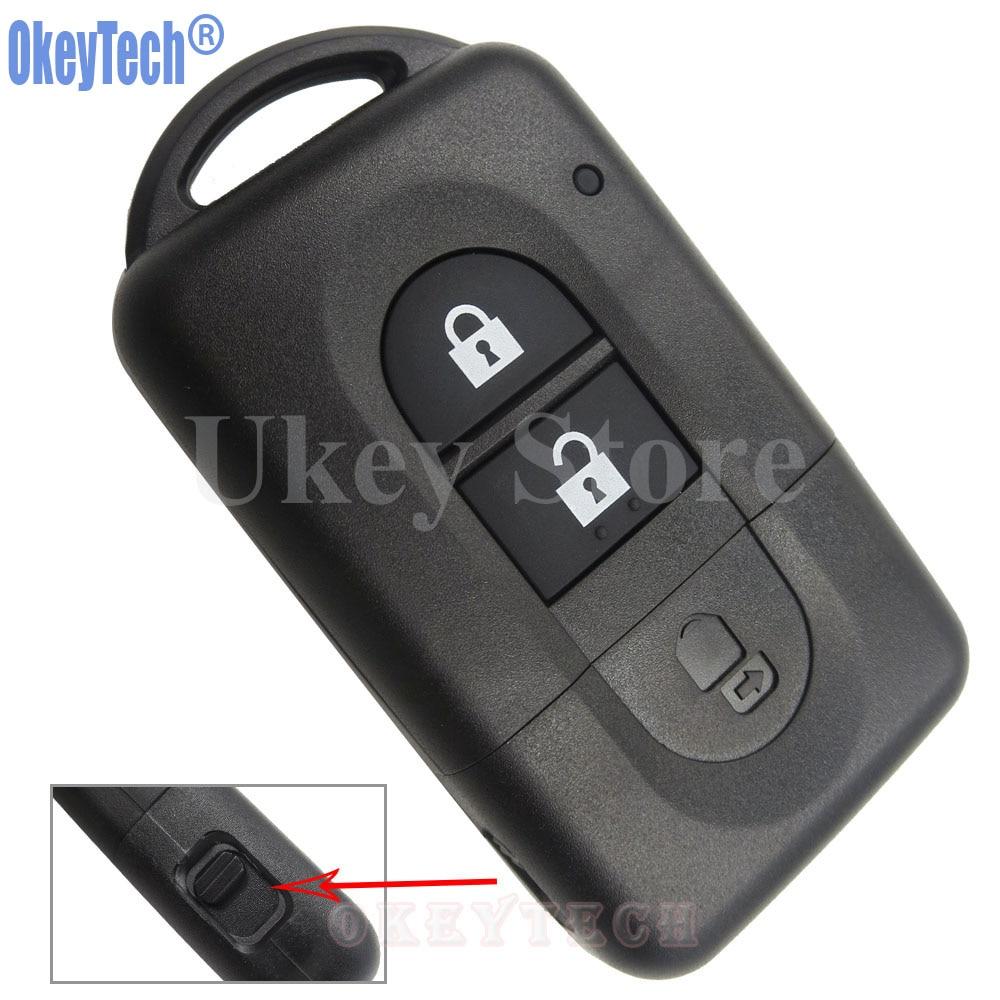 OkeyTech 2 Button New Replacement Remote Car Key Shell Fob Case For Nissan MICRA Xtrail QASHQAI JUKE DUKE NAVARA Free Shipping