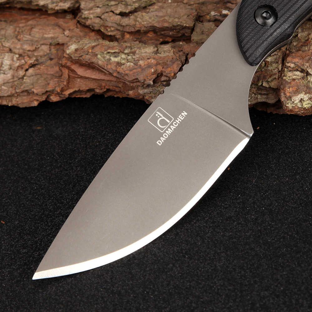 كامل تانغ أحدث أدوات جمع الصيد السكاكين التكتيكي سكين بقاء التخييم في الهواء مع المستوردة k غمد لهدية
