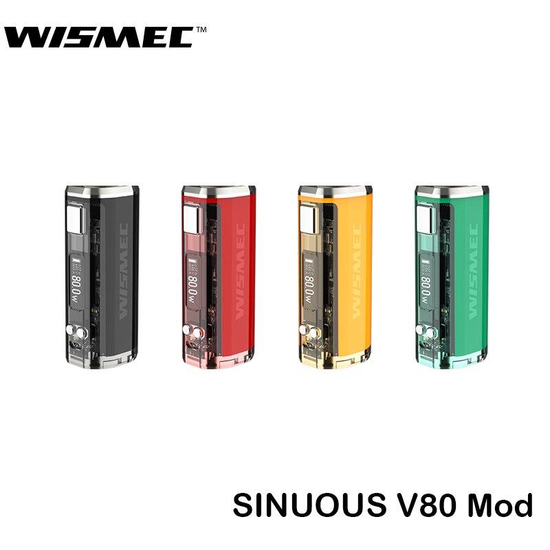 Wismec Original sinueux V80 Mod boîte 80 W sinueux V8 boîte Mod soutien Amor NSE réservoir RDA RBA RTA Cigarette électronique Vape Kit
