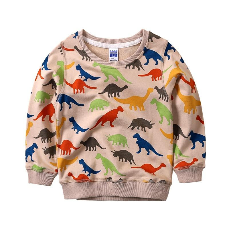 Dinosaur Print Boys Sweatshirts Long Sleeeve Children Sweatshirt Pullovers Casual Kids Tops Autumn Clothes For Boys