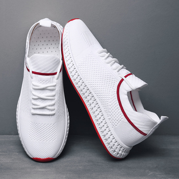 Hot Sale Breathable Shoes Men Casual White Sneakers Krasovki Tenis Masculino Summer Mesh Trainers Male New Scarpe Uomo Ayakkabi