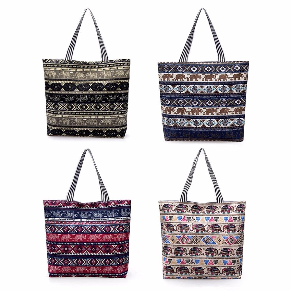 Zipper Shoulder Bag Canvas Big Shopping Tote Party Clutch Bags