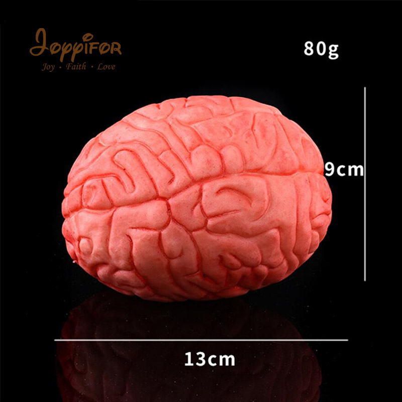 Joyyifor 110G HOT <font><b>Funny</b></font> Halloween Horror Props Bloody Brain Heart Haunted House Party Bar Decoration Scary Simulation Toys image