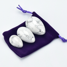 Ronny Zhu Wenwu Feminine Hygiene Product White Howlite Stone Yoni Eggs Ben Wa Ball for Women Kegel Exercise Vaginal Muscle Tight недорго, оригинальная цена