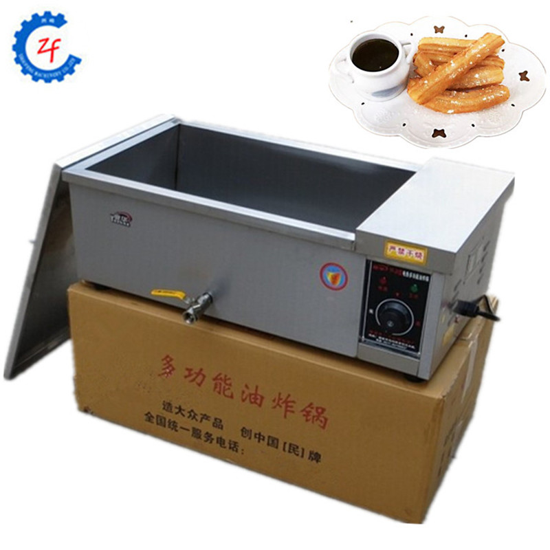 Commercial deep fryer electric stainless steel spiral potato fryer 12L ZF 220v 12l electric deep fryer for spiral potato twister potato tornado potato fry potato churros chicken