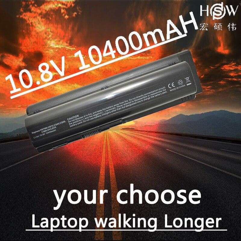HSW 10400 mah bateria akku Pour HP Pavilion DV6 DV5 DV4 G50 G60 G70 G71 Pour Compaq CQ40 CQ50 CQ60 CQ61 CQ70 Batteries D'ordinateurs Portables