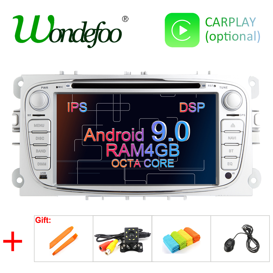 Android 9.0 8 CORE/4 CORE 4G/2G RAM DSP IPS 2 din Car DVD GPS for FORD Focus S-MAX Mondeo C-MAX Galaxy RADIO PLAYER SCREEN AUDIO